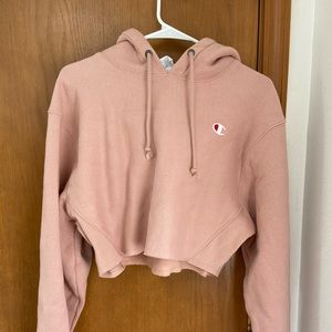 Champion Reverse Weave Cropped Cut Off Hoodie
